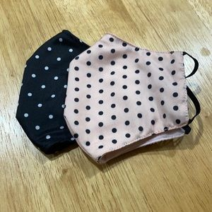 Polka dot face masks- 2 pack
